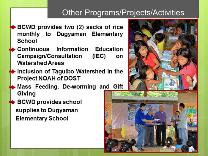 taguibo watershed issue